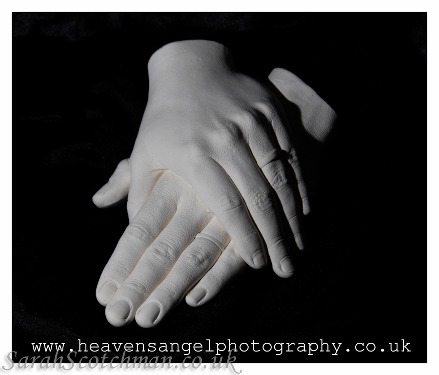 Sarah Scotchman Wedding Bands Plaster Life Cast Photo Courtesy of Heaven's Angel Photography