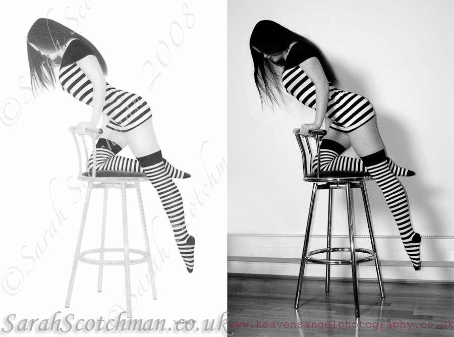 Sarah Scotchman Stripe Pencil on Fine Art Paper Photo Courtesy of El Diablo Blanco