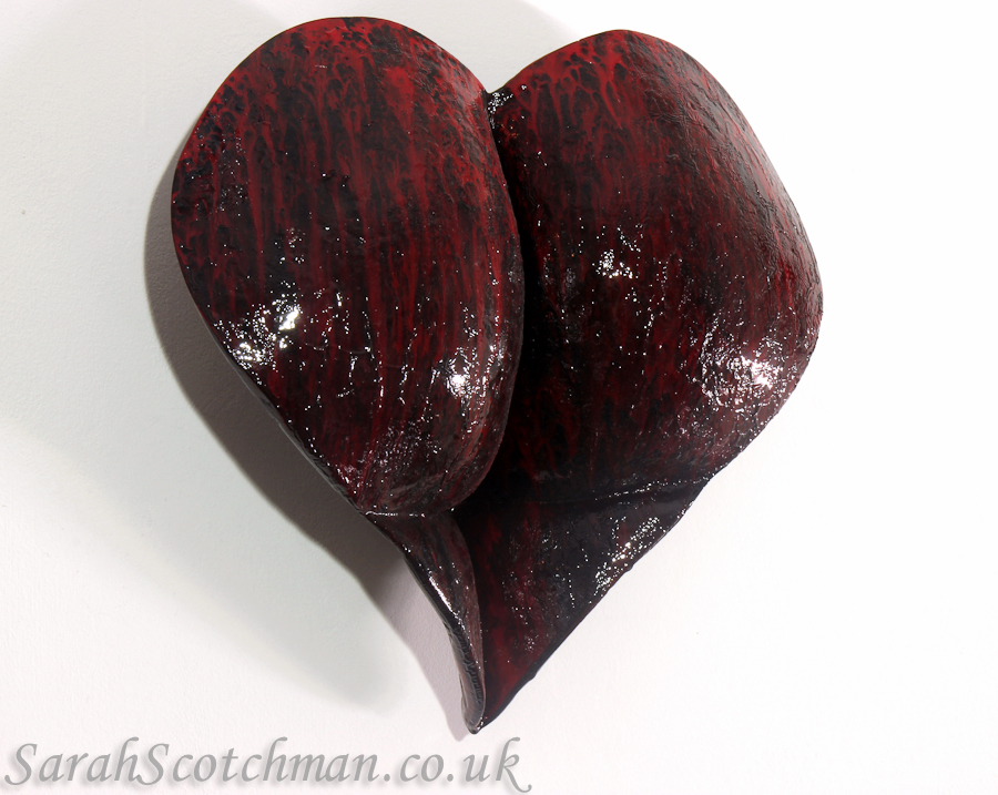 Sarah Scotchman Bleeding Heart Enamel on Resin Life Cast 27 x 26cm £POA