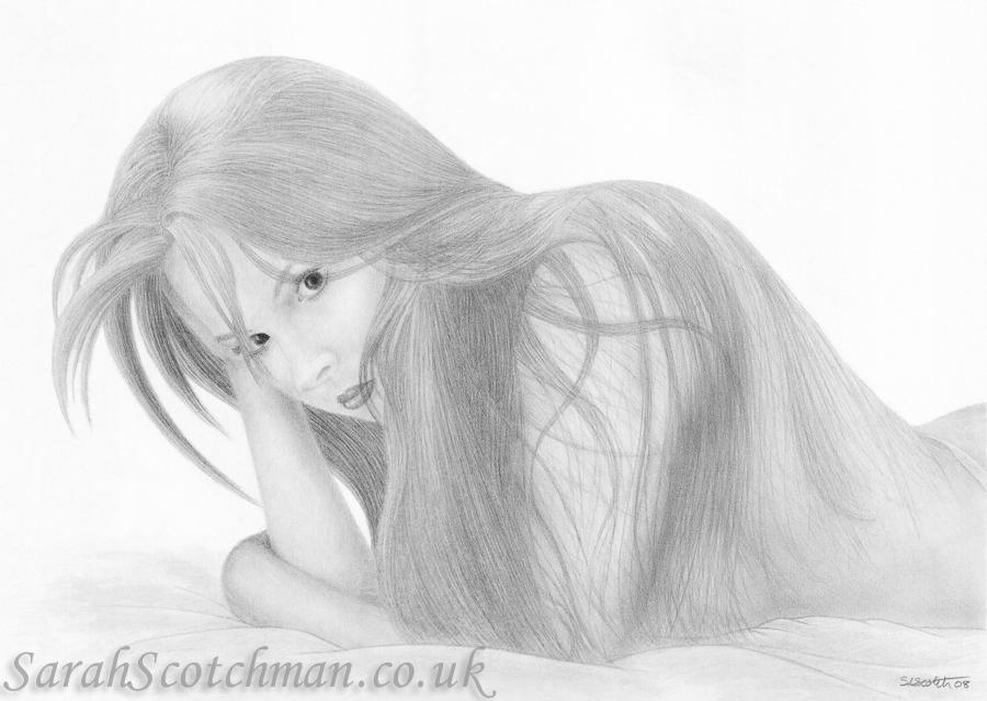 Sarah Scotchman Claire-Louise Pencil on Fine Art Paper 42 x 29.7cm