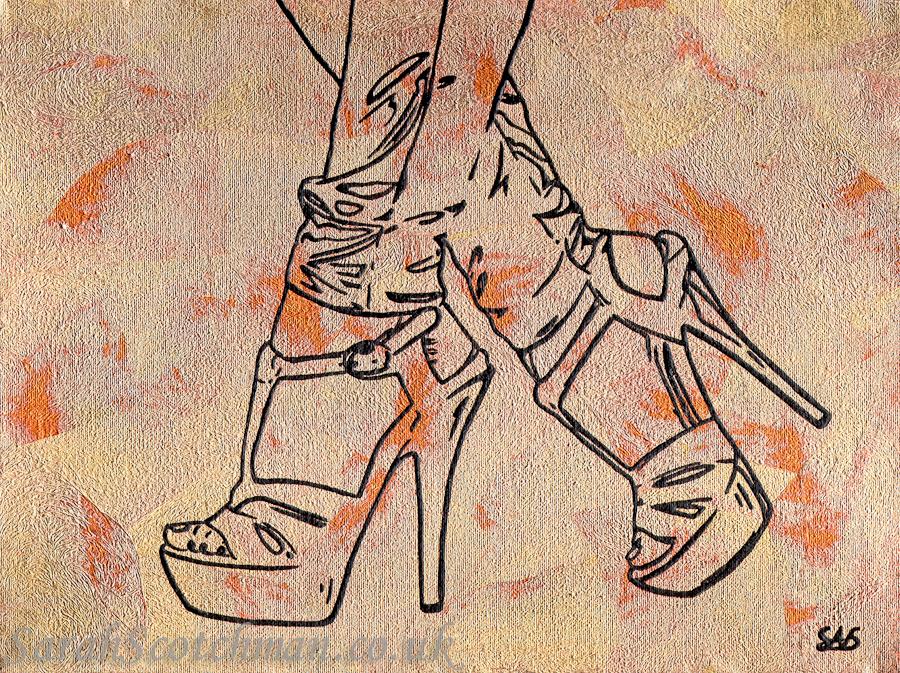 Sarah Scotchman Uptown Girl  Original Art  Price: £POA