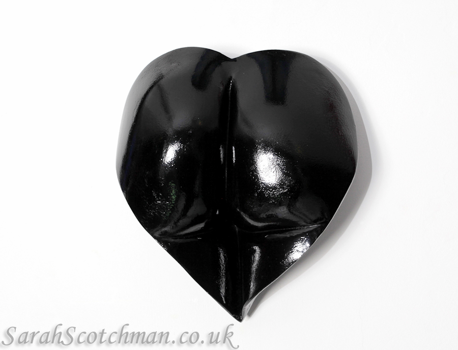 Sarah Scotchman Jess' Black Heart Plaster Life Cast with a Gloss Finish