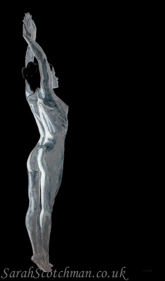 Sarah Scotchman Stretch Glass Etching with Acrylic & Aerosol 54.5 x 92cm