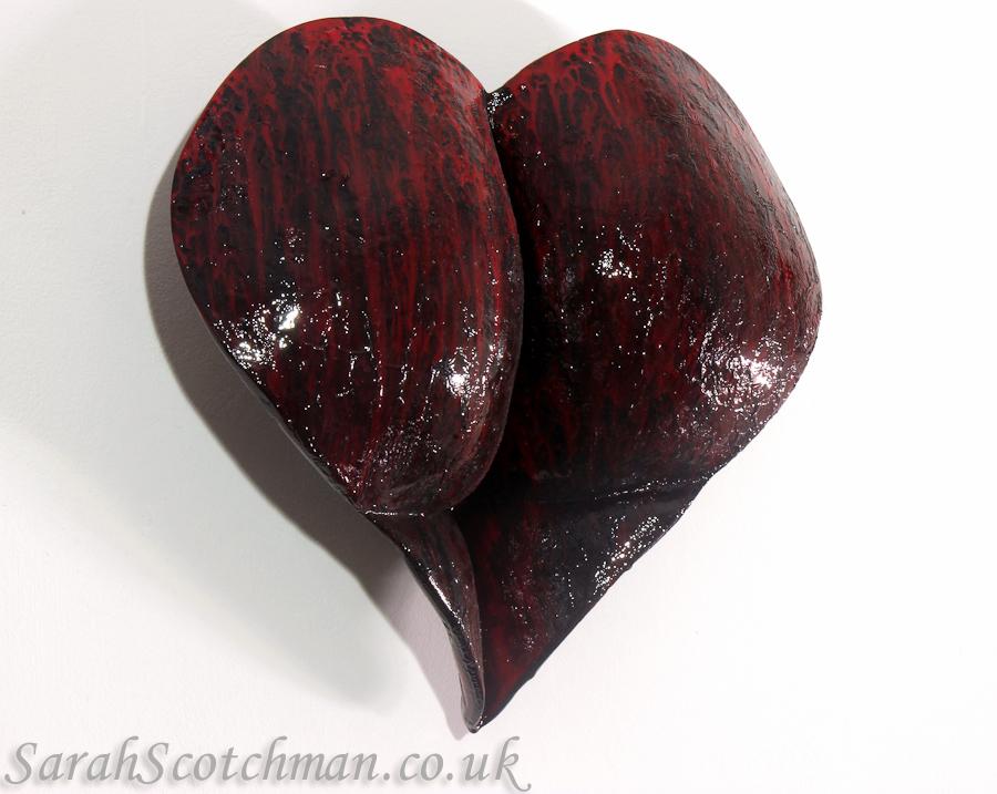 Sarah Scotchman Bleeding Heart Enamel on Resin Life Cast 27 x 26cm £SOLD