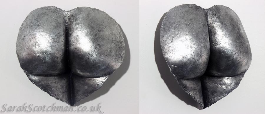Sarah Scotchman Silver Valentine Metal Leaf on Resin Life Cast 30 x 29cm £SOLD
